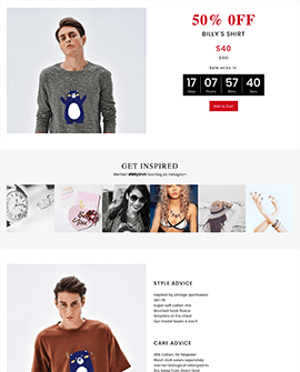 BFCM Fashion Shopify page template