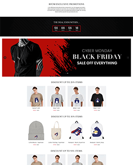 BFCM Sales Shopify page template
