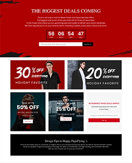 BFCM Fashion Shopify coming soon page template