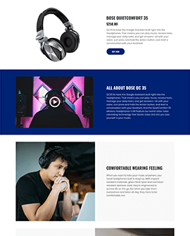 Electronics Shopify page template