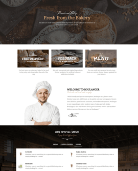 Bakery Shopify page template