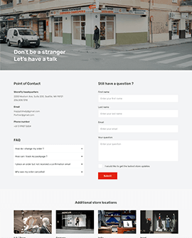 Citilize - Shopify contact us page template