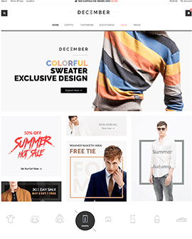 December - Clothing Fashion Shopify page template