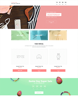 Easter | accessories Shopify homepage template