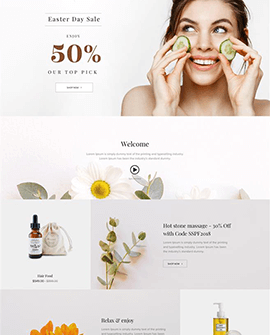 Beauty Shopify homepage template