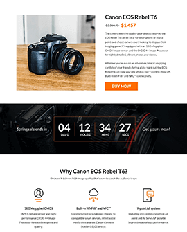 Electronics Shopify product page template