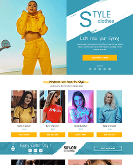 Fashion Shopify homepage template