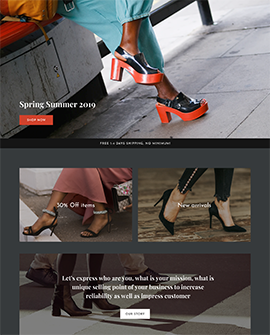 Shoes - Shopify collection page template