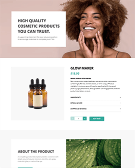 Health beauty Shopify blog page template
