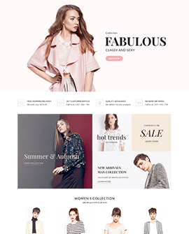 Fabulous - Fashion Shopify homepage template