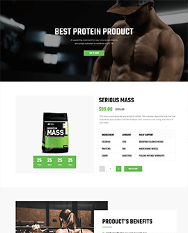 Fitness GYM Shopify product page template