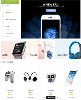 Electronics Shopify home page template