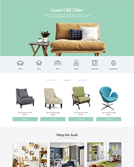 Interno - Furniture Shopify page template