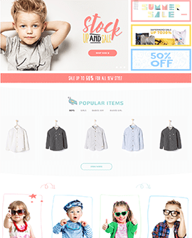 Kids Fashion Shopify page template