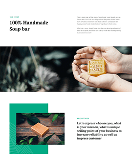 shopify about us page template