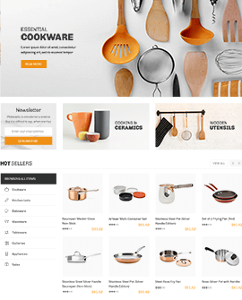 Kitchen accessories Shopify page template