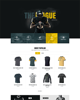 Sports Recreation Shopify page template
