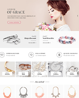 Jewelry Shopify page template