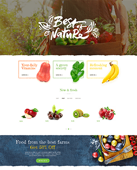 Food Drink Shopify page template