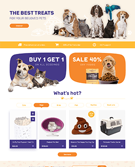 Pets Shopify page template