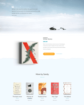 Books Shopify page template