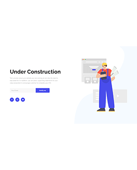 Shopify under construction page template
